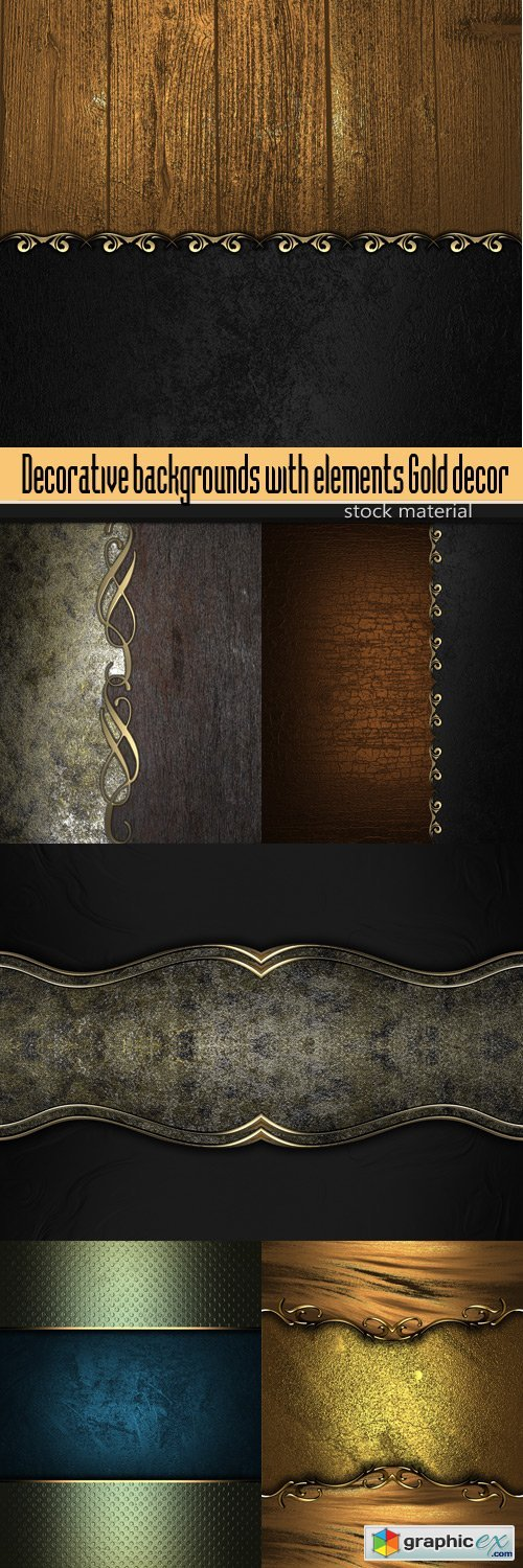 Decorative backgrounds with elements Gold decor