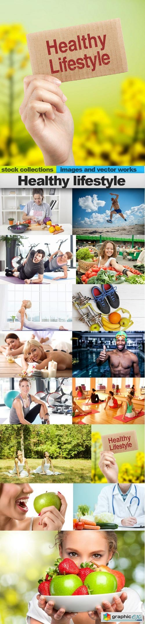 Healthy lifestyle, 15 x UHQ JPEG