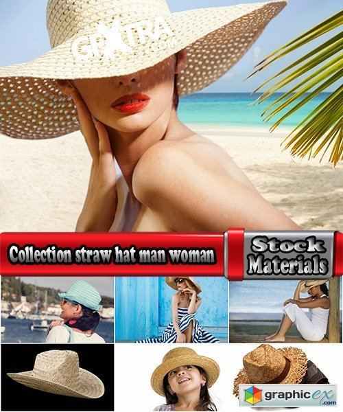 Collection straw hat man woman girl 25 HQ Jpeg