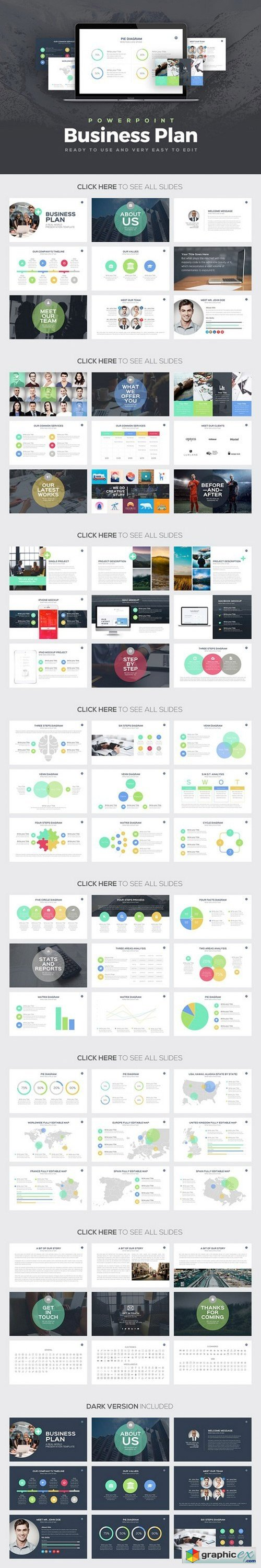Business Plan Powerpoint Template 546655 Free Download Vector