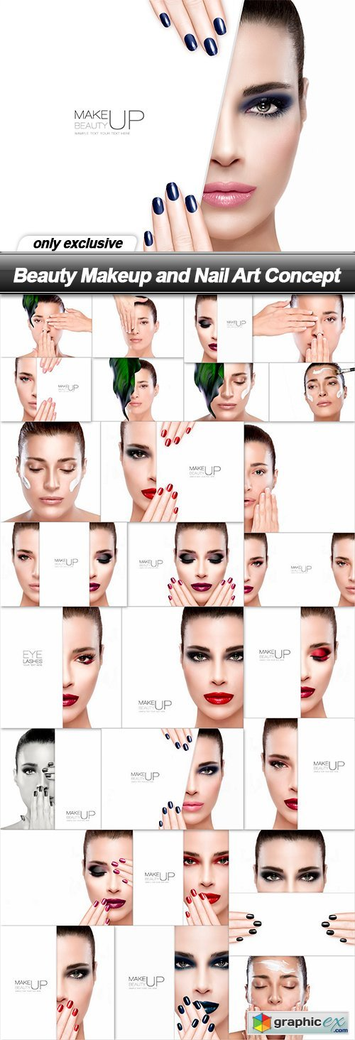 Beauty Makeup and Nail Art Concept - 26 UHQ JPEG