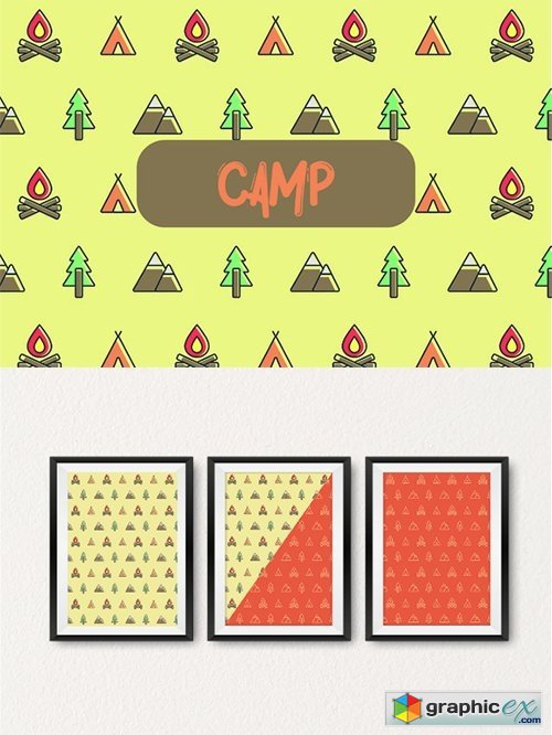 Camp icon pattern
