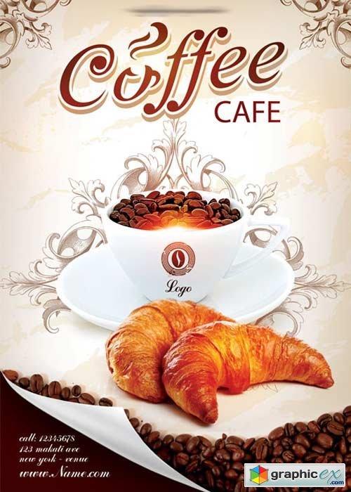 Flyer cafe Restaurant Flyer