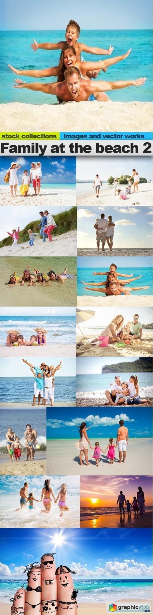 Family at the beach 2, 15 x UHQ JPEG