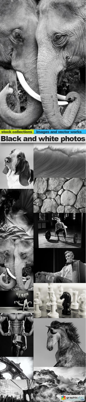 Black and white photos, 15 x UHQ JPEG