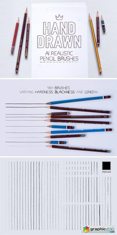 illustrator realistic pencil brushes