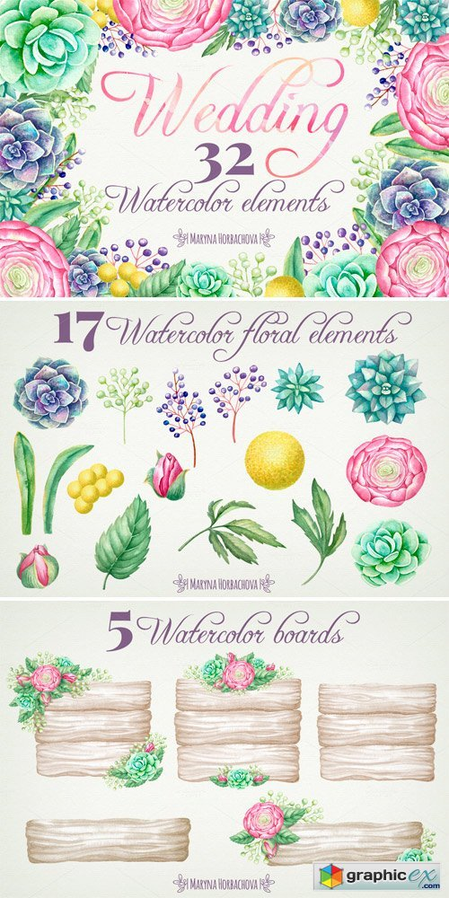 Wedding Watercolor Cliparts
