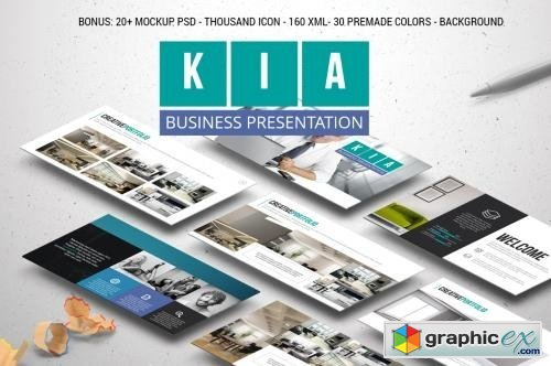 kia powerpoint template free download vector stock image photoshop