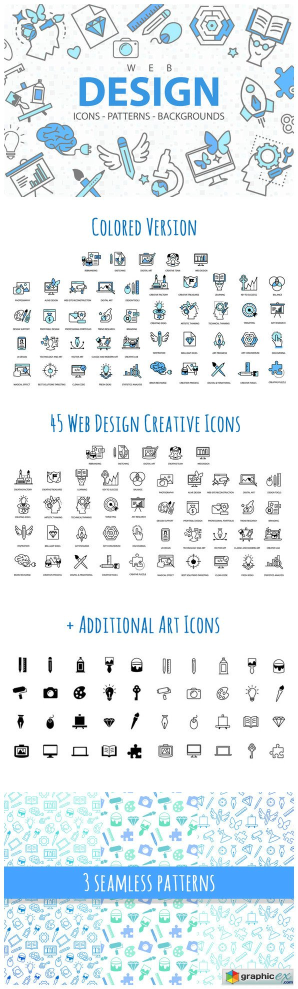 Web Design Icons Patterns and More