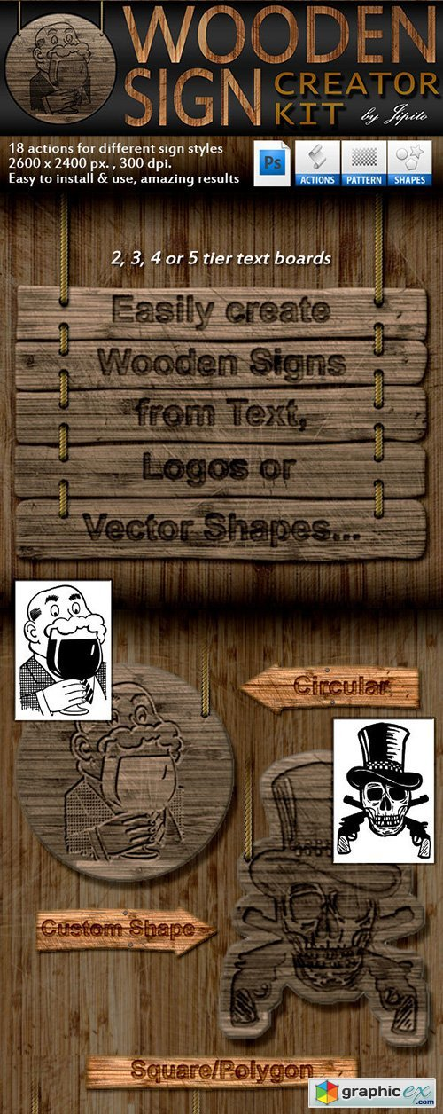Wooden Sign Creator Kit