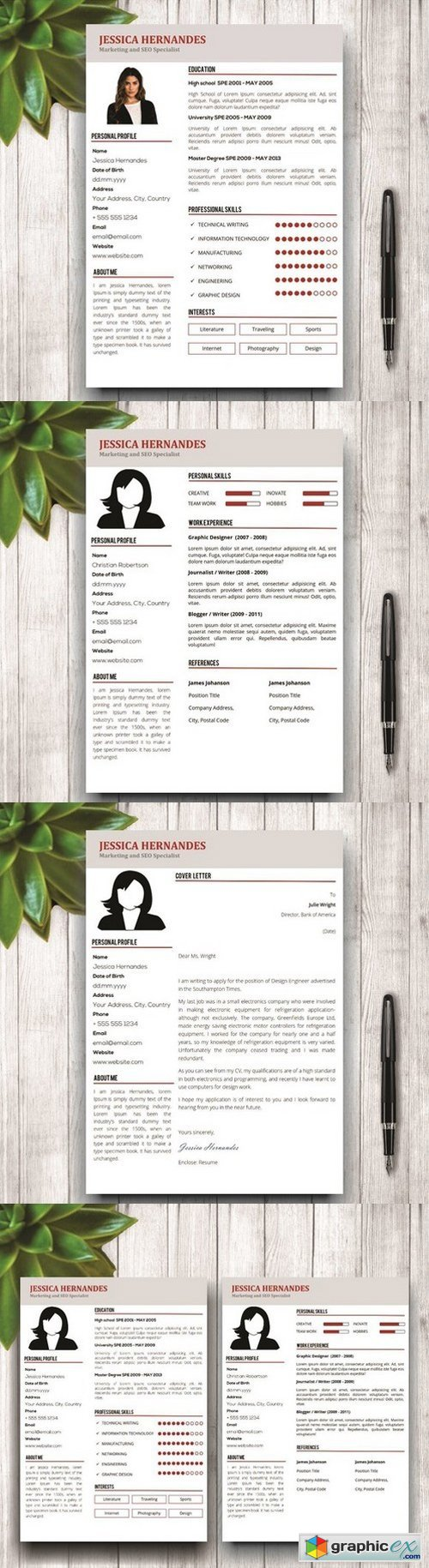 Clean Resume Template + Cover Letter