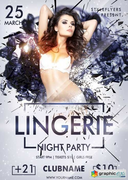 Lingerie Night Party PSD Flyer Template