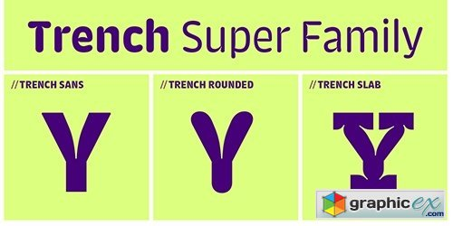 Trench Rounded Font Family