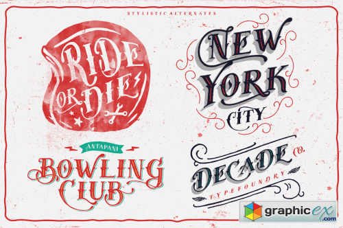 Tervia Font Family