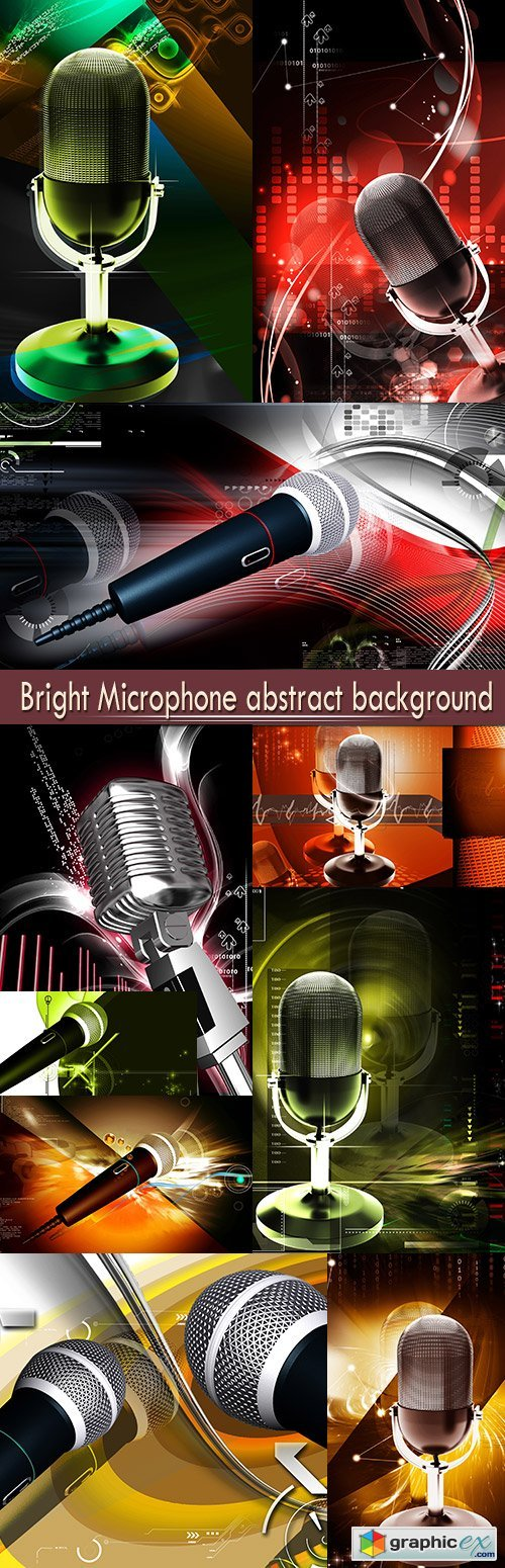Bright Microphone abstract background