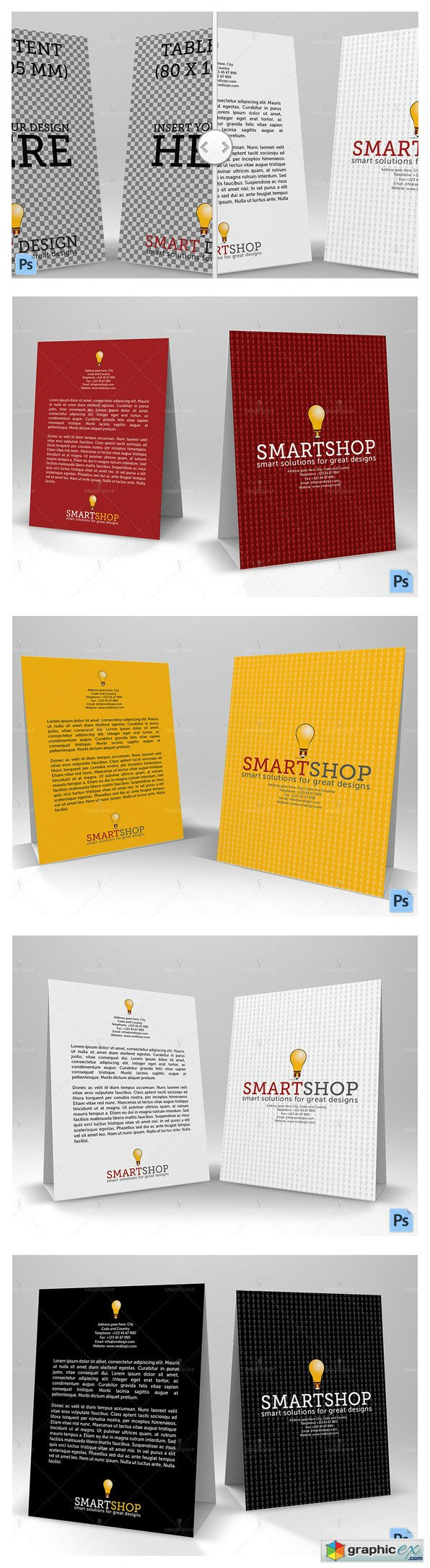 Table Tent Mockup 601191