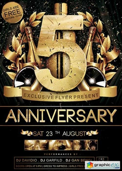 anniversary flyer template free koni polycode co