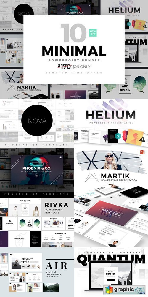 Minimal PowerPoint Template Bundle » Free Download Vector Stock