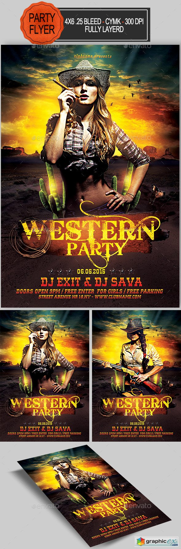 Western Party Flyer 11561353