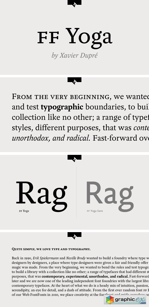 FF Yoga Pro Font Family » Free Download Vector Stock Image