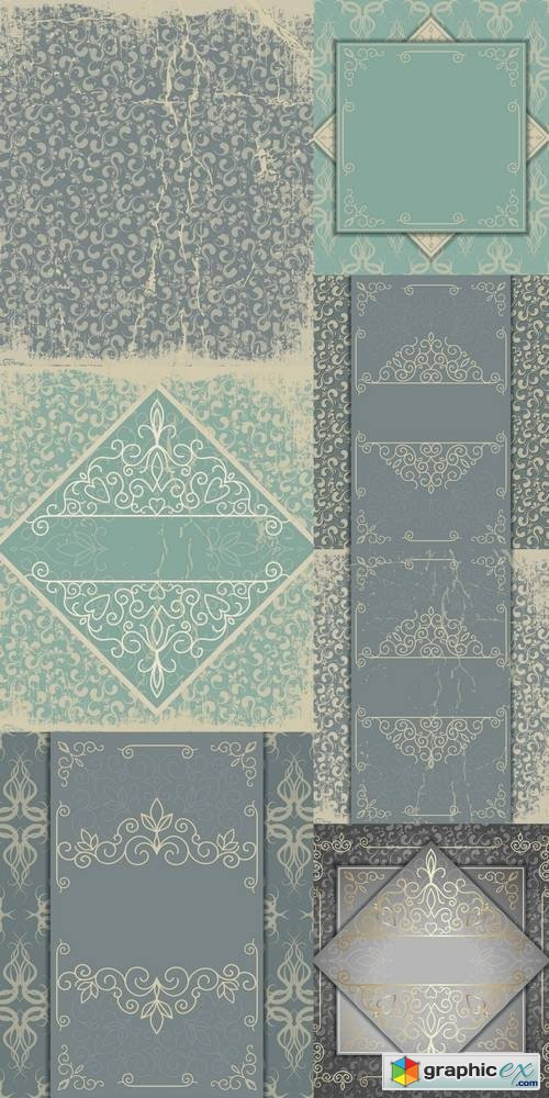 Vintage Luxury Background with Abstract Floral Pattern