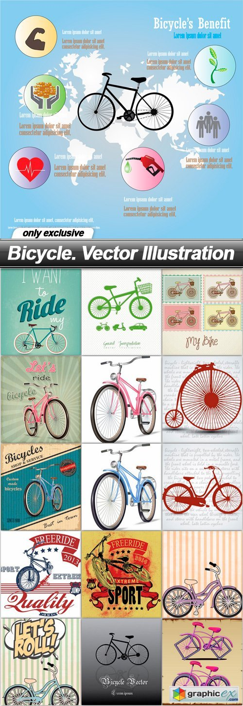 Bicycle. Vector Illustration - 16 EPS
