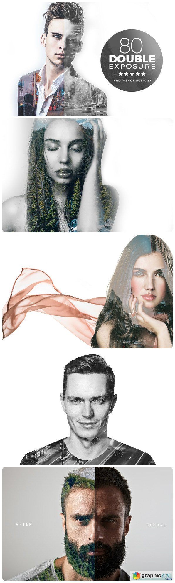 Double Exposure photoshop Actions 629970