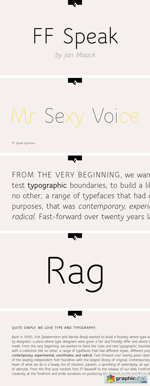FF Speak Font Family » Free Download Vector Stock Image