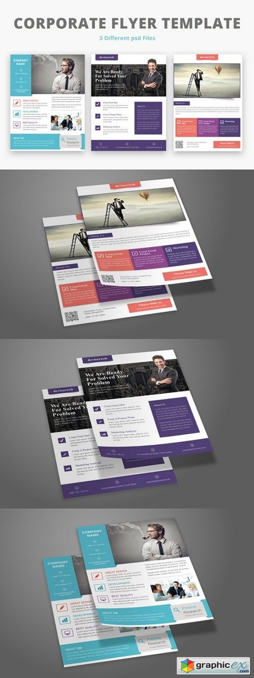 3 Corporate Flyer Template