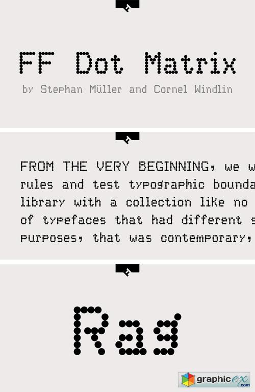 FF Dot Matrix Font Family » Free Download Vector Stock Image