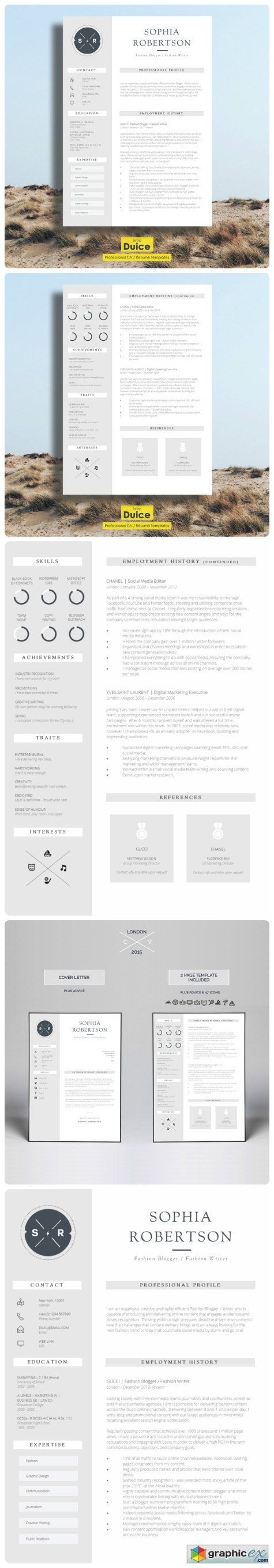 Creative Resume Template Chancery
