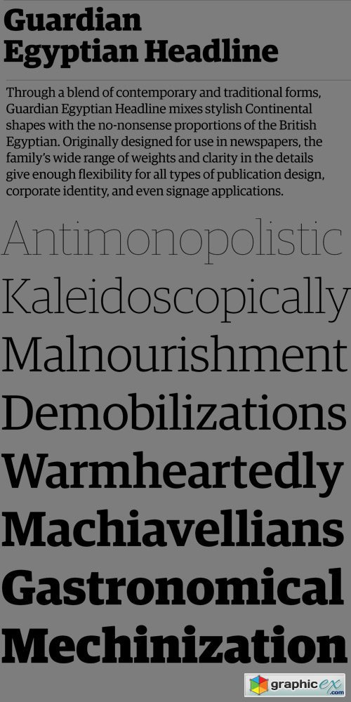 Guardian Egyptian Headline Font Family