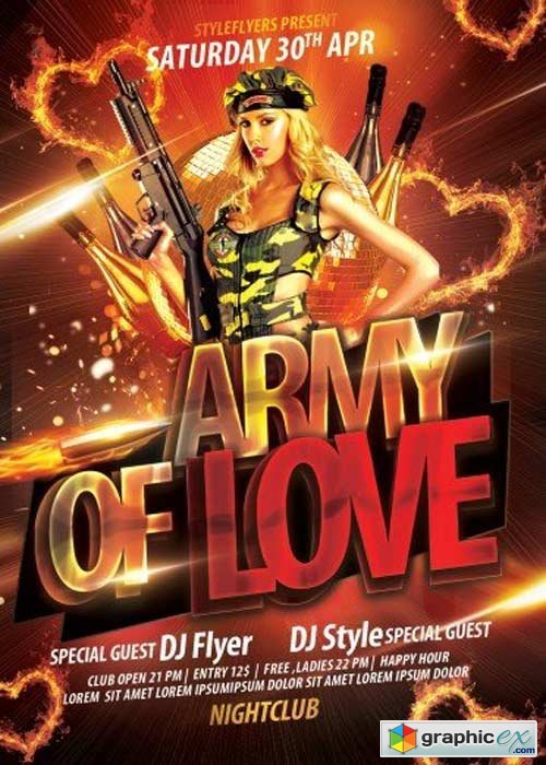 Army of Love PSD Flyer Template
