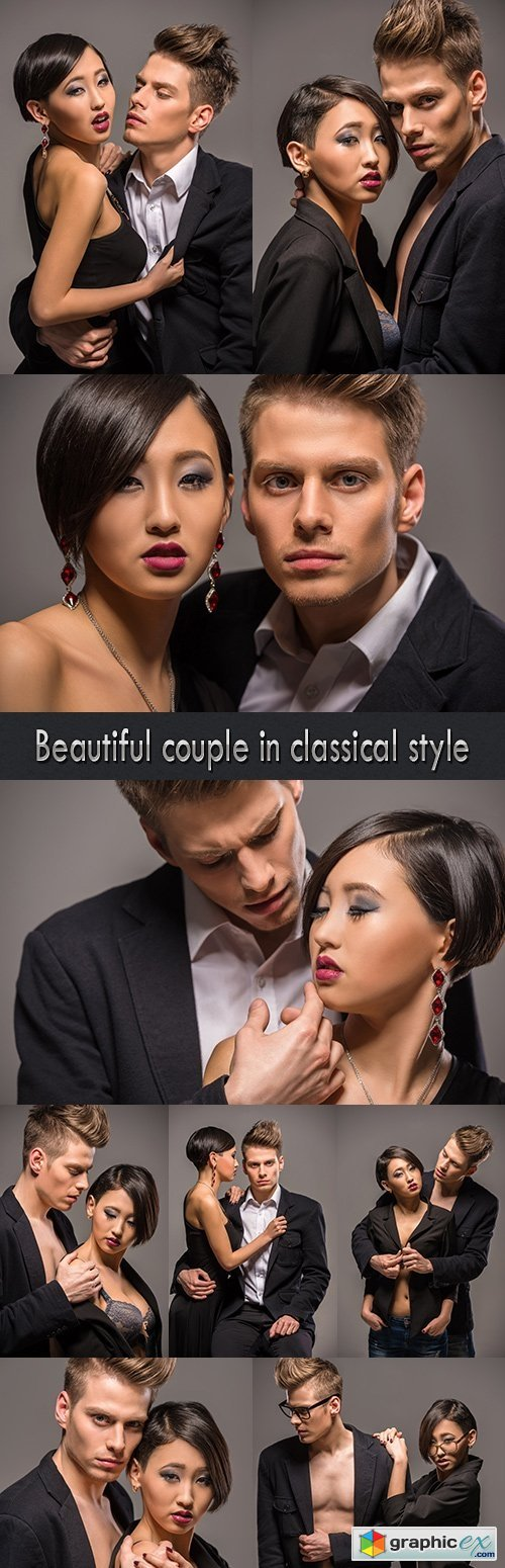 Beautiful couple in classical style