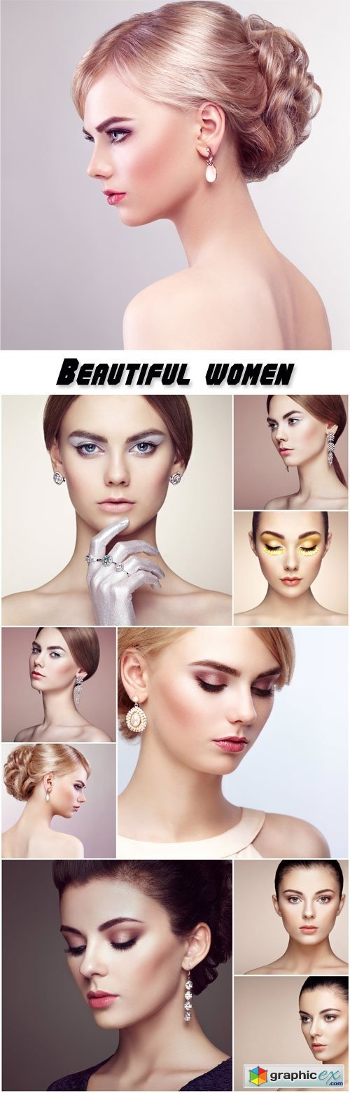 Beautiful well-groomed women, make-up