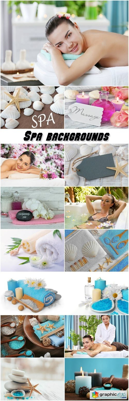 Spa backgrounds, women in the spa salon