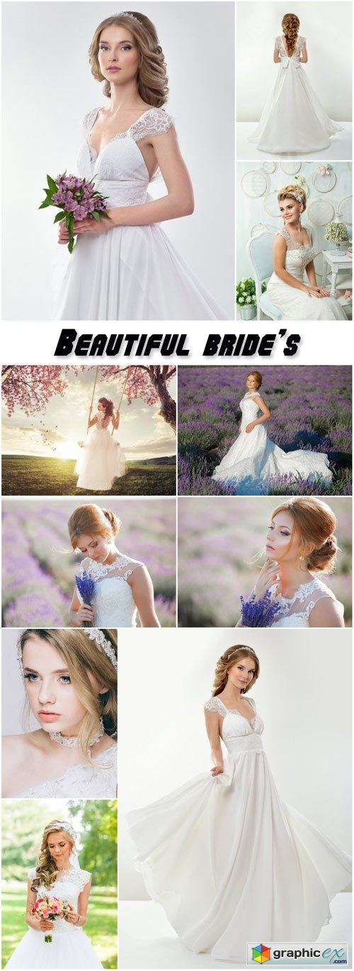 Beautiful bride's wedding dress