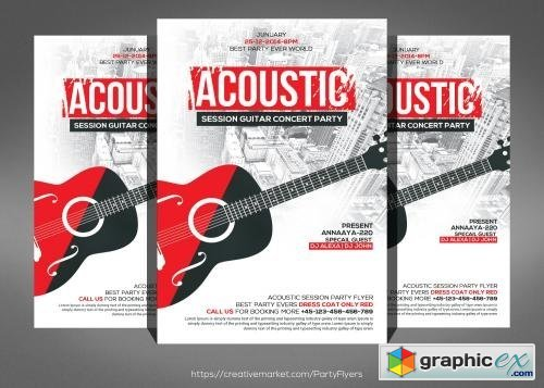 Acoustic Jam Session Flyer Template