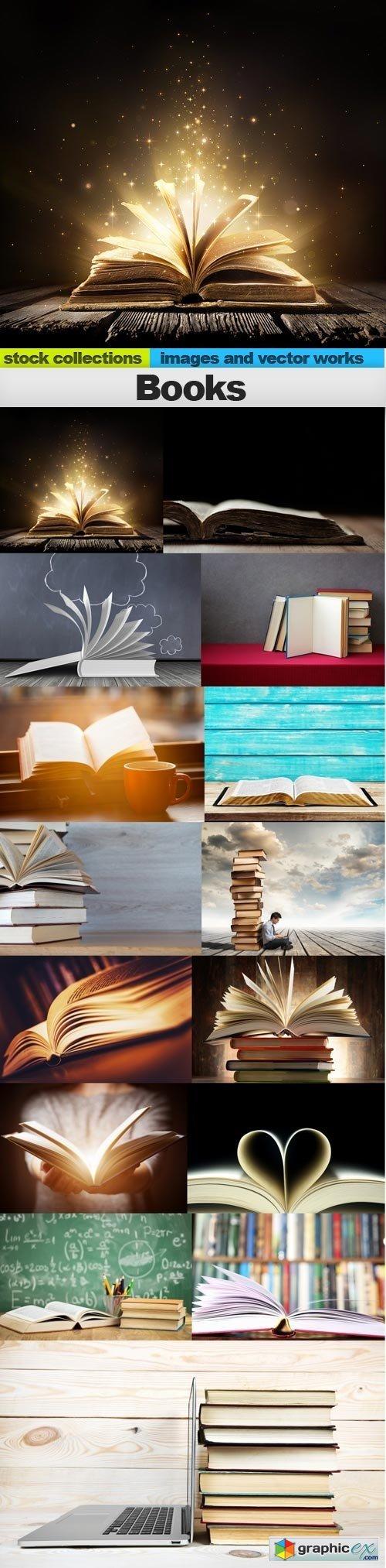 Books, 15 x UHQ JPEG