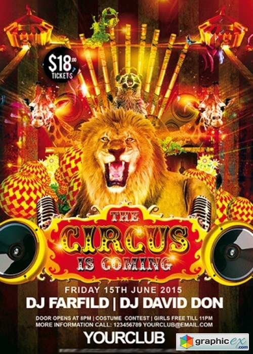 circus flyer background - photo #37