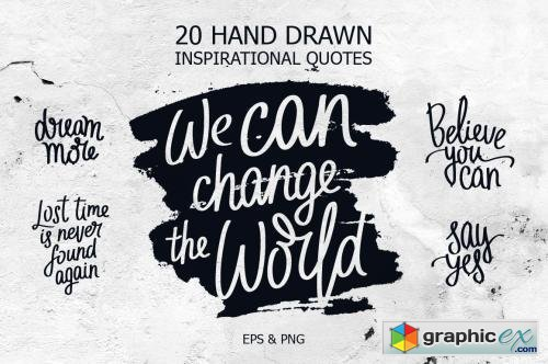 20 inspirational quotes free download vector stock image