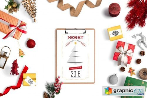 Christmas Header And Hero Scene Mockup 08