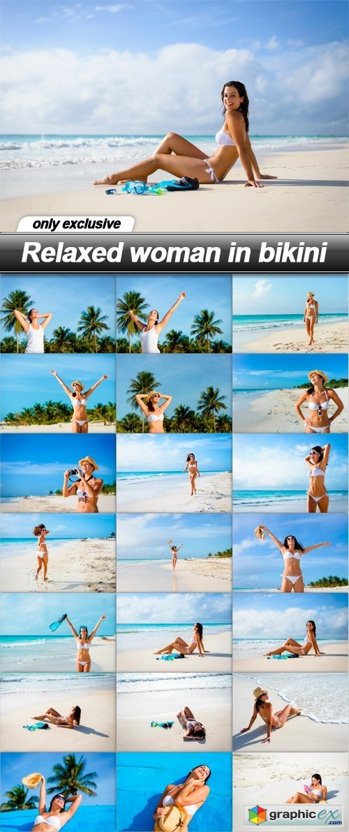 Relaxed woman in bikini - 21 UHQ JPEG