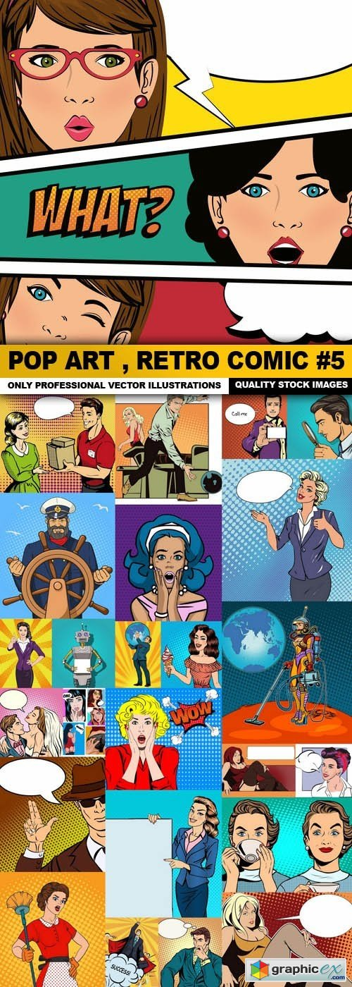 Pop Art , Retro Comic #5