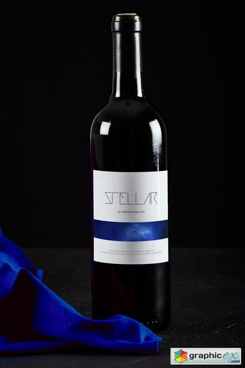 Wine Bottle Mockup 09