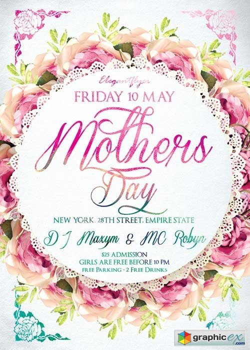 mothers day v2 psd flyer template facebook cover free download
