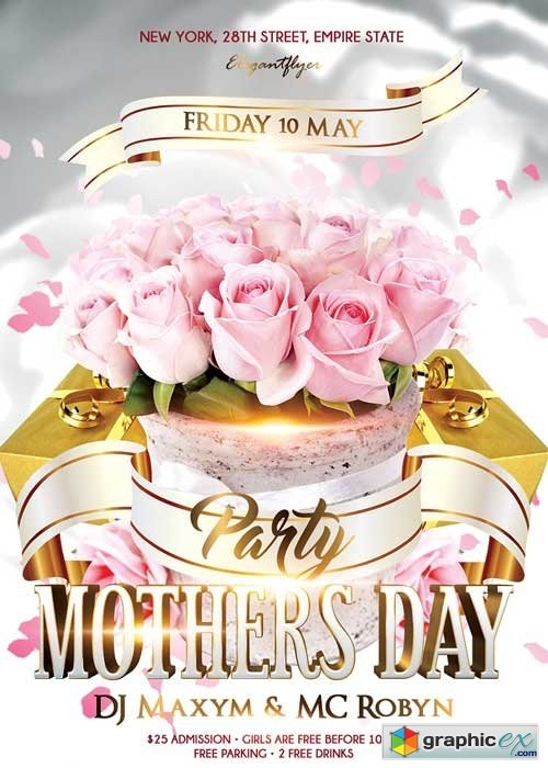 Mothers Day V7 Psd Flyer Template + Facebook Cover » Free Download