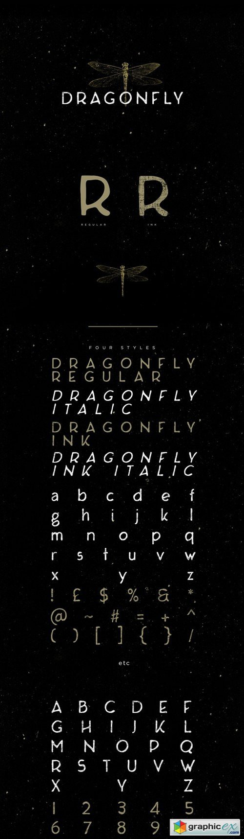 Dragonfly Typeface