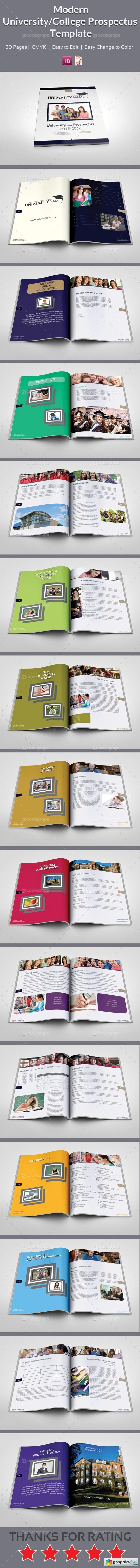 CodeGrape Modern University/College Prospectus Template