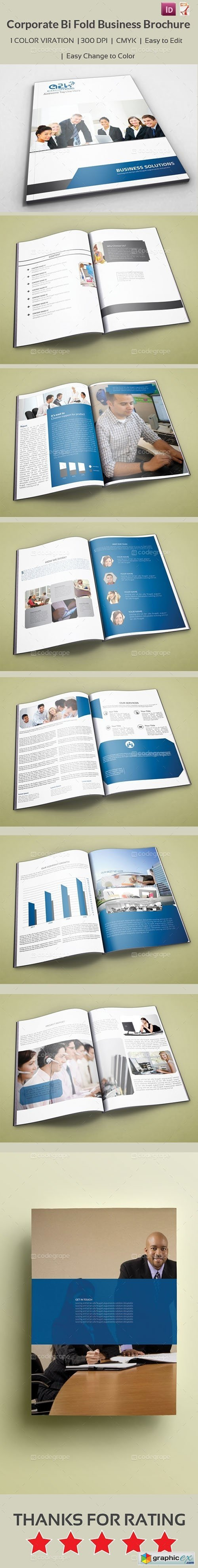 CodeGrape Corporate Bi Fold Business Brochure 5271